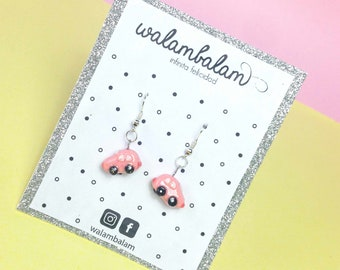 Volkswagen earrings, handmade earrings, Mexican earrings, earrings for her, modern earrings, creative earrings, creative gift, Pink