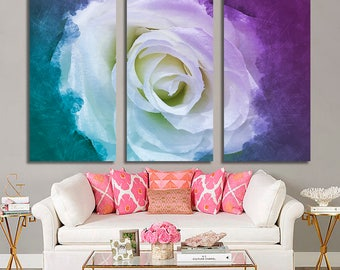 White Rose Wall Art 462
