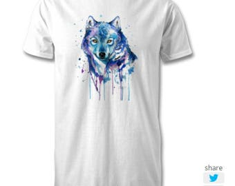 Abstract Wolf Tshirt
