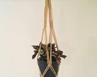 Macrame Plant Hanger / Plant Holder / Hanging Planter / Cotton Hanging Plant Holder / Modern Macrame / Home Decor