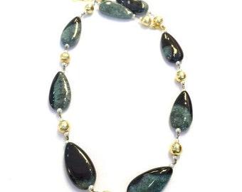 Amethyst healing crystal circle necklace