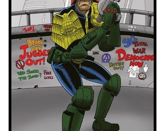 Judge Dredd - A3 print