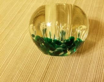 Murano Hand Blown Glass Paperweight & Pen Holder
