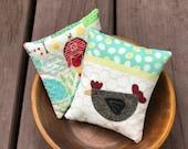 kits; pair of fun chicken and farm pincushions