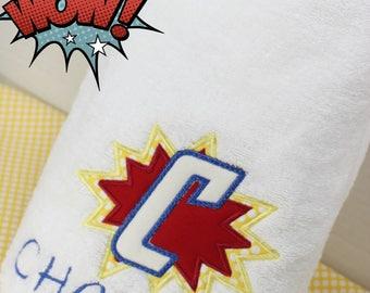 Superhero Towel, Kids Bath Towel, Personalized Beach Towel, Kids Pool Towel, Personalized Kids Towel, Boys Beach Towel, Boys Superhero