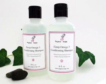 Clean Cotton No Sulfate Hemp Omega 3 Shampoo  8 oz Select Your Own Scent