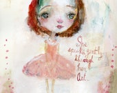 She speaks Gently - art print by Mindy Lacefield