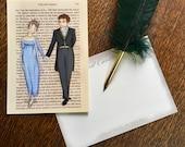 Jane Austen Art Postcards - Austen Couples - Elizabeth and Mr Darcy