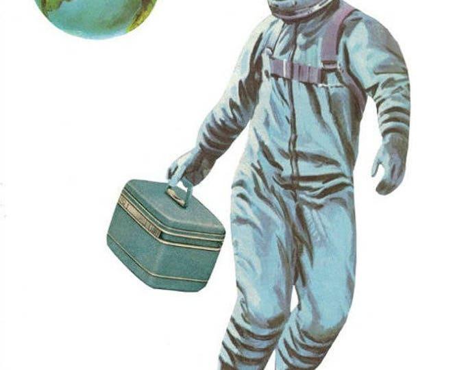 Retro Astronaut Art Collage, Space Traveler