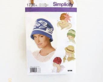 Simplicity Retro Ladies Hat Pattern In Five Cloche Styles NIP