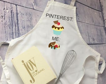 funny apron // gift for cook//bridal shower gift/ / pin fail apron/ gag gift/ white elephant gift/Christmas gift/baker gift