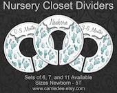 Cactus Nursery Closet Dividers, Baby Clothes Dividers, Closet Organizer, Baby Shower Gift, Boho, Southwest Desert Nursery Decor