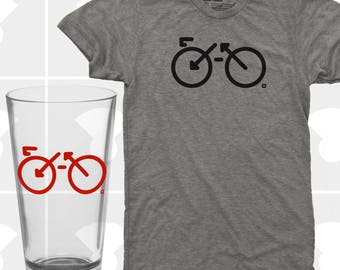 Bike Shirt & Pint Glass Set - Men