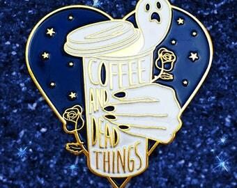 Coffee & Dead Things- Midnight Blue - Enamel Pin