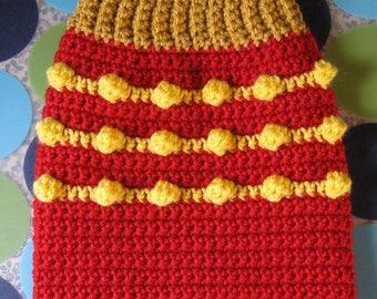 Size S - Dog Sweater Vest ~ Happy Fry-Day ~ Ready to Ship Today