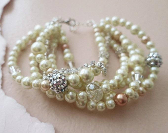 Chunky Pearl Bracelet Wedding
