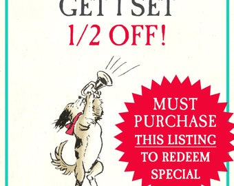 BOGO Special *Must Purchase This Listing to Redeem* - Buy 1 Set Get 1 Set 1/2 Off Summer Sale - Vintage Personalized Bookplates