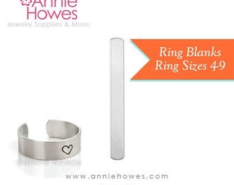 Ring Blanks for Metal Stamping. Aluminum. Sizes 4-6 and 7-9