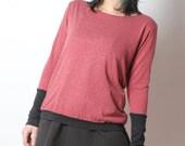 Pink and grey sweater, womens pink sweater, Womens clothing, MALAM, size UK 12