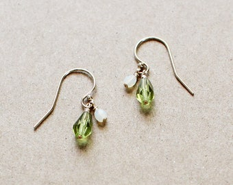 yael - green teardrop earrings