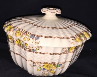 Copeland Buttercup China Sugar Bowl