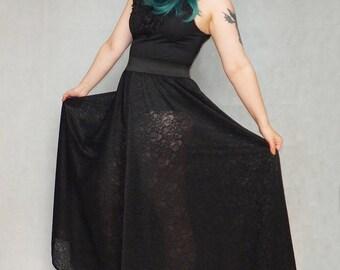 Huge Wide Leg Lace Trousers, Goth, custom size