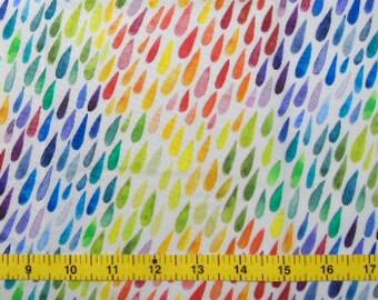 CUSTOM Reusable Cloth Menstrual Pad - You Pick Backing - Rainbow Raindrops