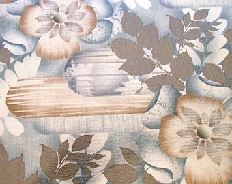 full roll vintage wallpaper 'ice flower' / original European wallpaper / Tapete / behang