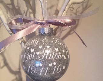 Got Married/ Hitched Christmas Bauble
