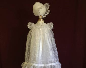 Infants blessing/christening gown with slip.