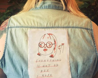 everything is not ok - sew on patch