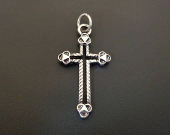 Silver Cross Charm - Western Style? - Low Shipping