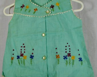 Cotton Baby Top with Embroidery and Rick Rack