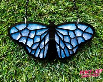 Blue Tiger Butterfly Necklace, Australian Butterfly Necklace, Butterfly Jewellery, Laser Cut Necklace