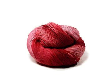 300 Yards Hand Dyed Cotton Crochet Thread Size 10 3 Ply 6 Shades of Red Ombre From Dark Red to Pale Pink Fine Cotton Yarn