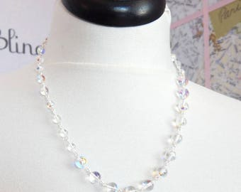 Irridesent  bubble necklace made with Swarovski Crystals - bubble necklace - clear crystal necklace - Swarovski necklace - rainbow crystal