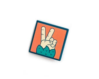 Sasquatch Peace Sign soft button