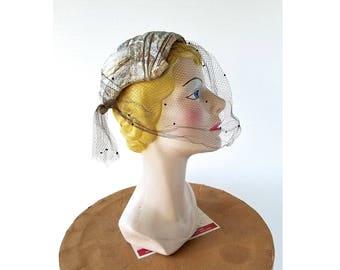Christian Dior Hat | 1950s Hat | Cocktail Hat