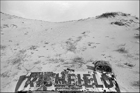 RICHFIELD GUN TARGET, Manzanita, Oregon coast, Clyde Keller photo, '73