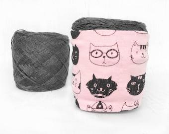 Cat Yarn Bowl- Yarn Cozy- Yarn Keeper- Yarn Organizer- Yarn Storage- Crochet Accessories- Cat Lover Knitting- Yarn Holder- Skein Coats