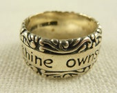 Vintage Size 5.25 Sterling Quote Ring