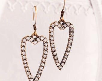Heart Jewelry - Romantic - Heart Earrings - Gift - HEAVEN SENT