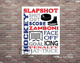 Ice Hockey Poster, Ice Hockey Wall Art, Hockey Poster,DIGITAL, YOU PRINT, Hockey Typography, Hockey Gifts,Ice Hockey Decor,Hockey Gift Ideas