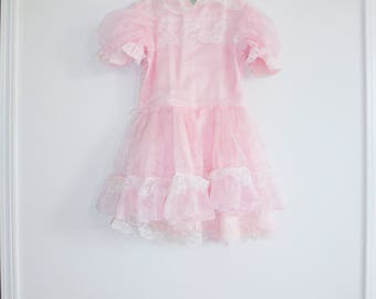 Vintage Ruffles and Lace Girl's Dress