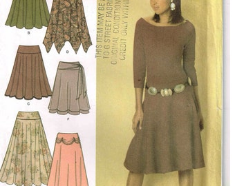Sewing Pattern Misses Three Quarter Circle Half Skirt Wide Waistband Simplicity 4883 Size 12, 14, 16, 18  New Uncut