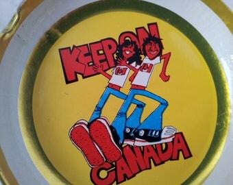 Vintage Retro Funky Canada Souvenir Ashtray  Collectable
