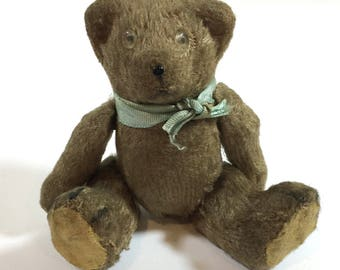 Vintage Teddy Bear German? Glass Eyes and Jointed