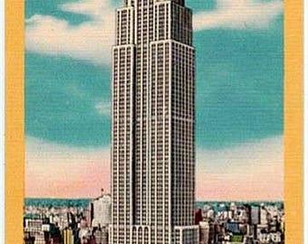 Vintage New York City Postcard - The Empire State Building (Unused)