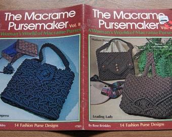 vintage 70s macrame patterns THE MACRAME PURSEMAKER volume 2