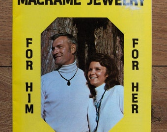 Vintage 70s Macrame patterns MACRAME JEWELRY